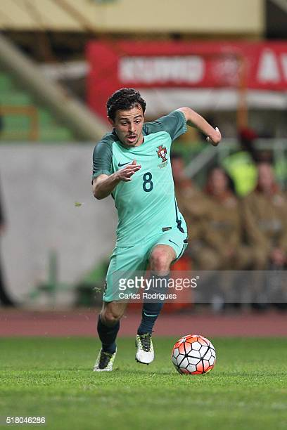Portuguese midfielder Bernardo Silva during the match between Portugal and Belgium Friendly International at Estadio Municipal de Leiria on March 29...
