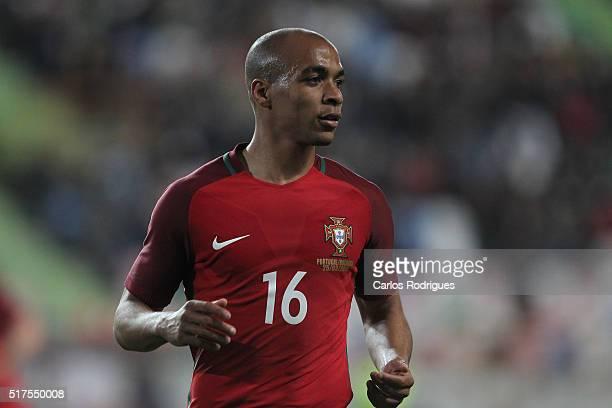 Portuguese midfielder Joao Mario during the match between Portugal and Bulgaria Friendly International at Estadio Municipal de Leiria on March 25...