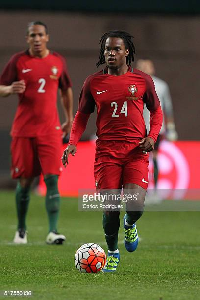 Portuguese midfielder Renato Sanches during the match between Portugal and Bulgaria Friendly International at Estadio Municipal de Leiria on March 25...