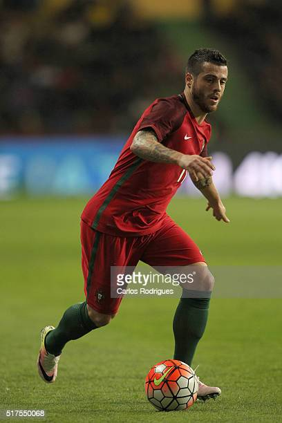Portuguese midfielder Vieirinha during the match between Portugal and Bulgaria Friendly International at Estadio Municipal de Leiria on March 25 2016...