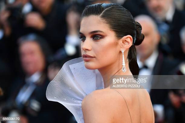 Portuguese model Sara Sampaio smiles as she arrives on May 20 2017 for the screening of the film '120 Beats Per Minute ' at the 70th edition of the...