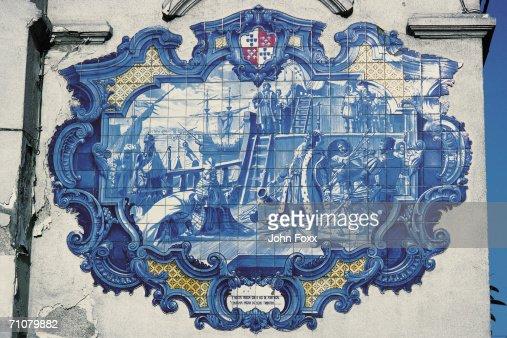 Portuguese pattern tile work