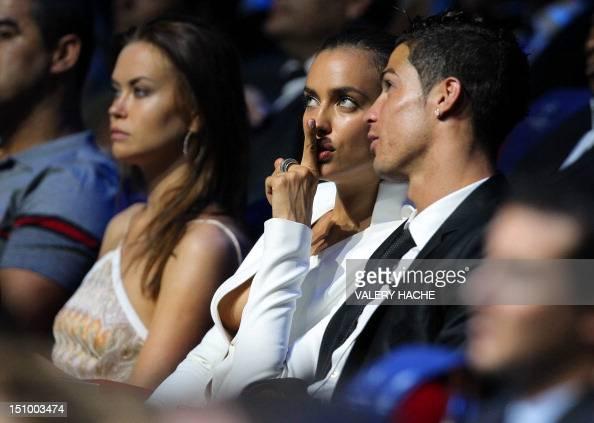 Portuguese player Cristiano Ronaldo and his girlfriend ...