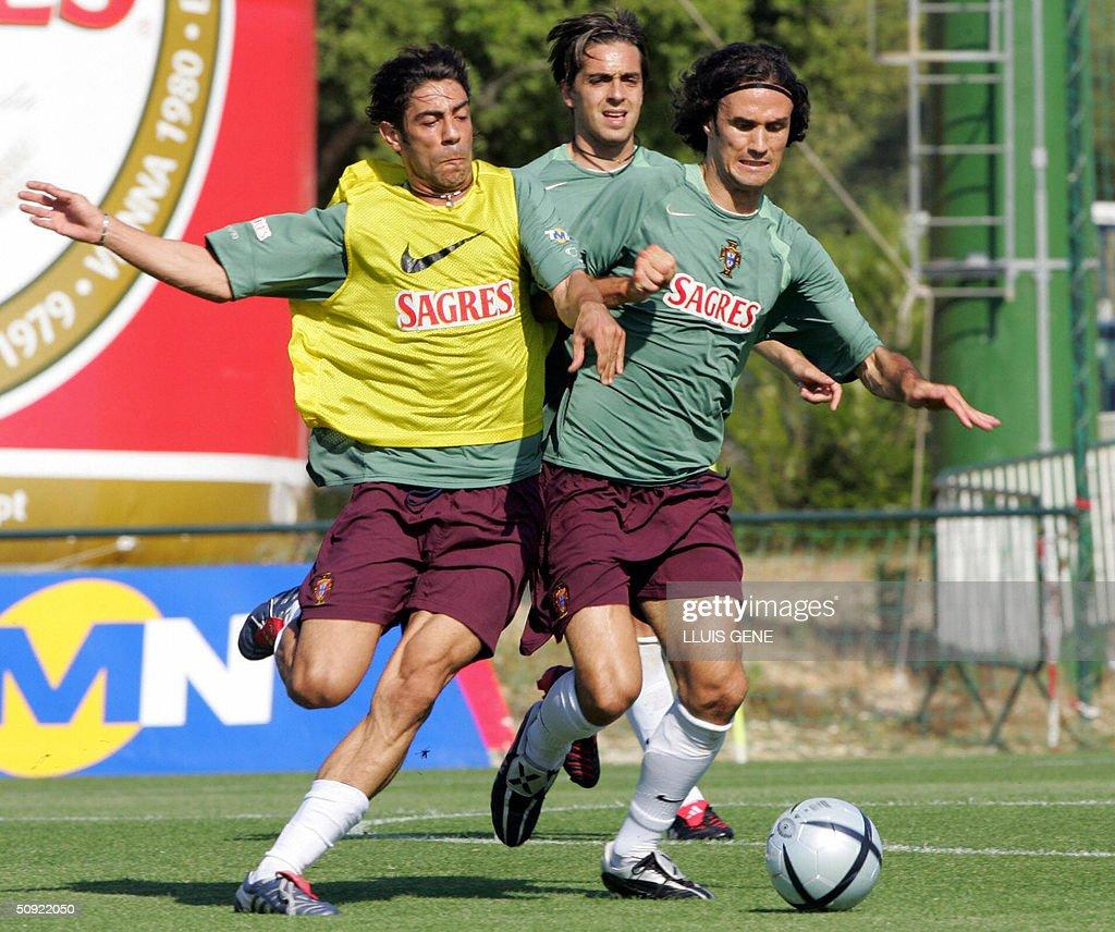 Portuguese players Rui Costa L Ricard