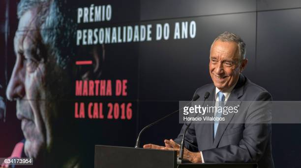 Portuguese President Marcelo Rebelo de Sousa delivers the closing remarks at the ceremony in which he gave Portugal national soccer team coach...