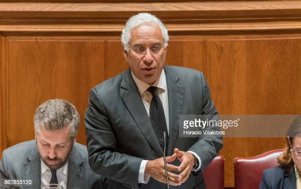 Portuguese Prime Minister Antonio Costa answers lawmakers' questions on Portugal's recent forest fires at the biweekly debate in the Assembleia da...