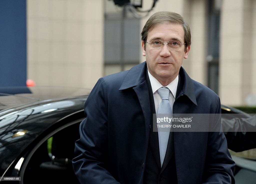 Portuguese Prime Minister <a gi-track='captionPersonalityLinkClicked' href=/galleries/search?phrase=Pedro+Passos+Coelho&family=editorial&specificpeople=6912340 ng-click='$event.stopPropagation()'>Pedro Passos Coelho</a> arrives for a European summit in Brussels on March 20, 2015. .