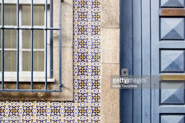 Portuguese tiles on building facades