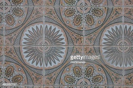 Portuguese vintage ceramic tile : Stock Photo