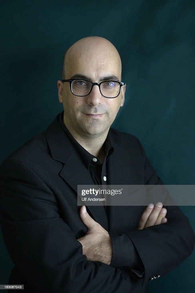 PARIS, FRANCE - SEPTEMBER 30. Portuguese writer Valter Hugo Mae poses during a portrait session on September 30, 2013 in Paris, France.