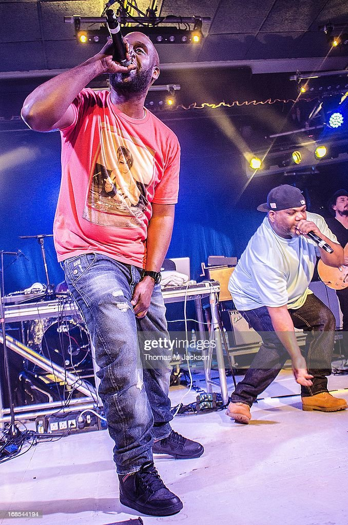 Posdnous and Maseo of De La Soul perform on stage on Day 1 of the ATP Weekender curated by TV On The Radio on May 10, 2013 in Camber, United Kingdom.