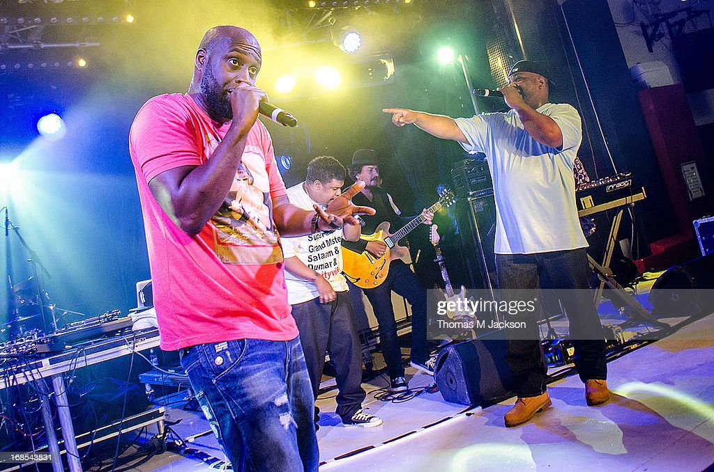 Posdnous, Trugoy the Dove and Maseo of De La Soul perform on stage on Day 1 of the ATP Weekender curated by TV On The Radio on May 10, 2013 in Camber, United Kingdom.