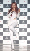 DALSHABET pose for photographs during their 7th mini ablum 'BBB' showcase at Dom Art Hall on January 8 2014 in Seoul South Korea