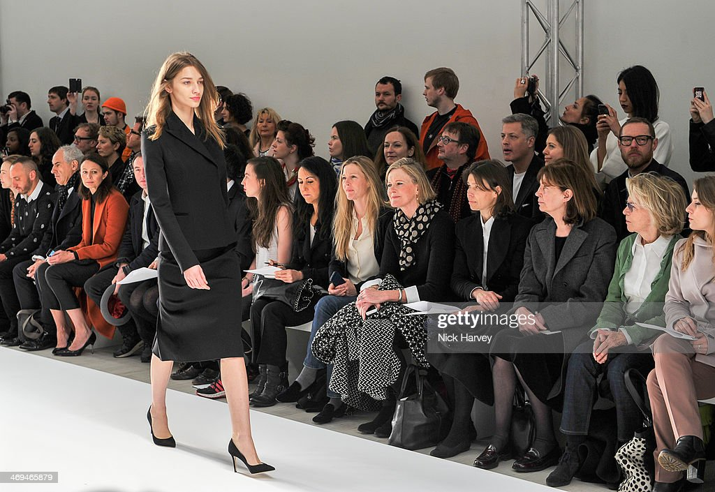 Posed A model walks the runway at the Jasper Conran show at London Fashion Week AW14 at Saatchi Gallery on February 15, 2014 in London, England.