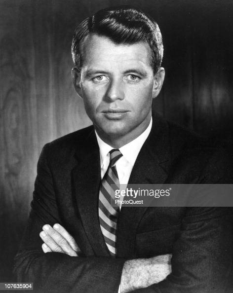 Posed portrait American politician and US Attorney General Robert F Kennedy 1963