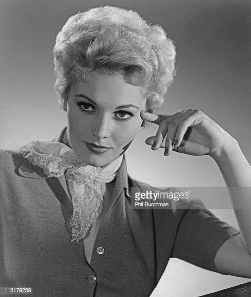 Posed portrait of American actress Kim Novak in the 1950's