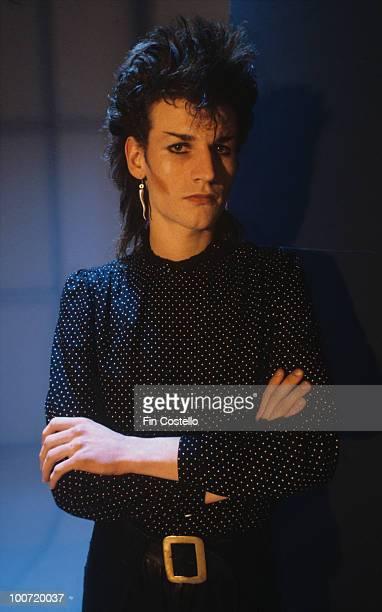 Posed portrait of Bauhaus guitarist Daniel Ash in March 1982