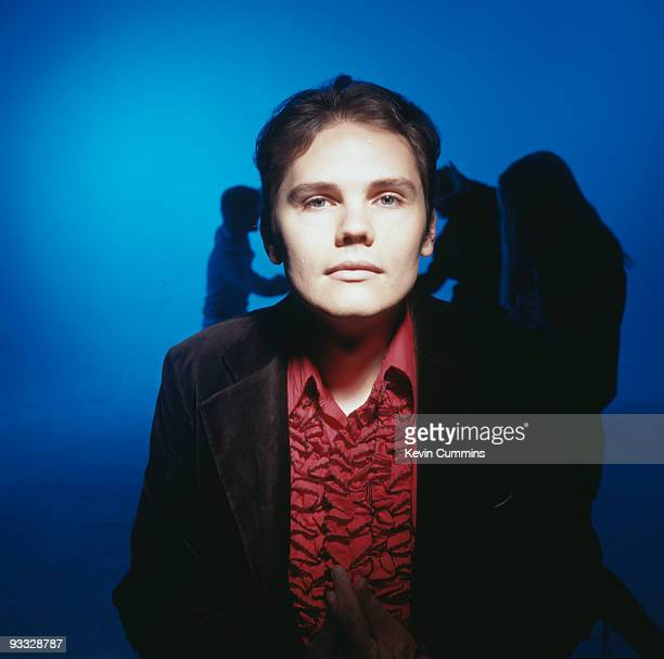 Posed portrait of Billy Corgan singer with American rock band the Smashing Pumpkins circa 1994