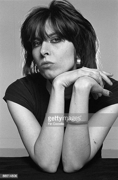 Posed portrait of Chrissie Hynde lead singer with The Pretenders in Camden London in January 1979