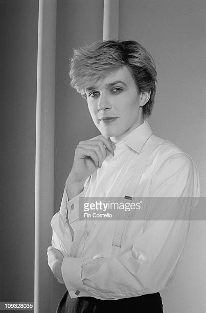 Posed portrait of David Sylvian from Japan during the Tin Drum album photo session in November 1981