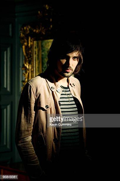 Posed portrait of Sergio Pizzorno guitarist with English band Kasabian in Kensington London on July 06 2006