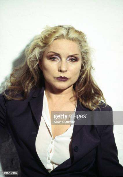 Posed portrait of singer Debbie Harry of American band Blondie circa 1995