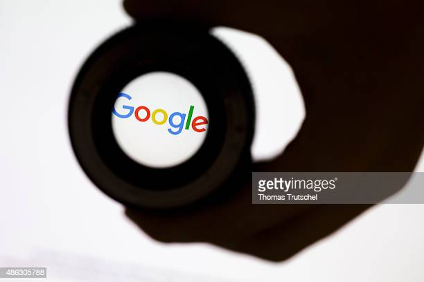 Posed scene on the topic google photo lens in front of the google company logo on September 03 2015 in Berlin Germany Photo by Thomas...