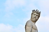 The famous statue of Poseidon in Florence, Italy.
