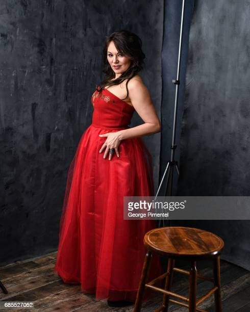 poses at the 2017 Juno Awards Portrait Studio at the Canadian Tire Centre on April 1 2017 in Ottawa Canada