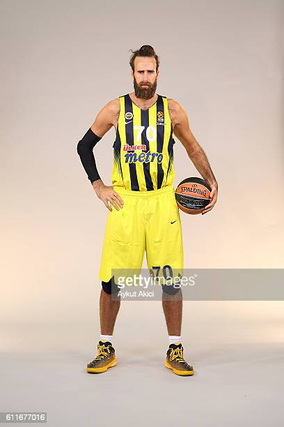 poses during the 2016/2017 Turkish Airlines EuroLeague Media Day at Fenerbahce Ulker Sports Arena on September 29 2016 in Istanbul Turkey