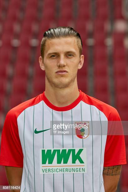 poses during the team presentation at WWK Arena on July 17 2017 in Augsburg Germany