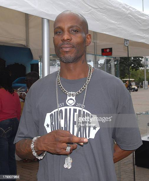 DMX poses for a photo while he attends day 3 of the Detroit Jazz Festival on September 1 2013 in Detroit Michigan