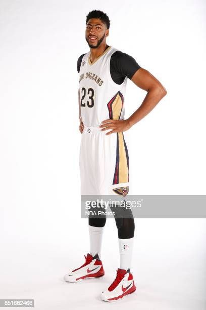 poses for a portrait during the 2016 NBA Media Day on September 23 2016 at the Smoothie King Center in New Orleans Louisiana NOTE TO USER User...