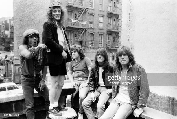 ACDC poses for a portrait in June 1985 in New York City New York
