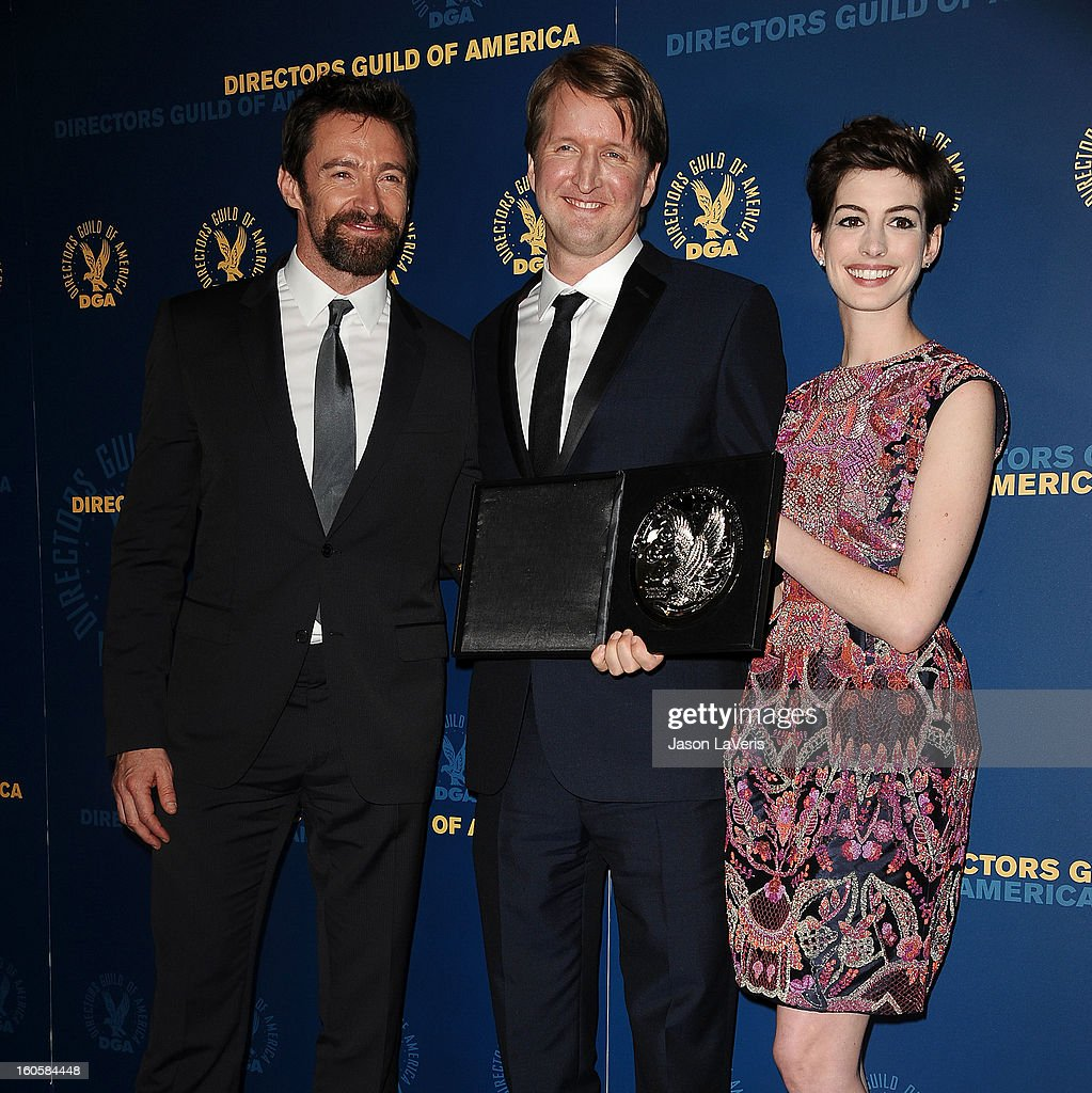 poses in the press room at the 65th annual Directors Guild Of America Awards at The Ray Dolby Ballroom at Hollywood & Highland Center on February 2, 2013 in Hollywood, California.