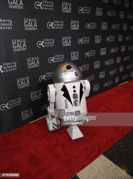 R2D2 poses on the red carpet during Genius Gala 60 at Liberty Science Center on May 5 2017 in Jersey City New Jersey