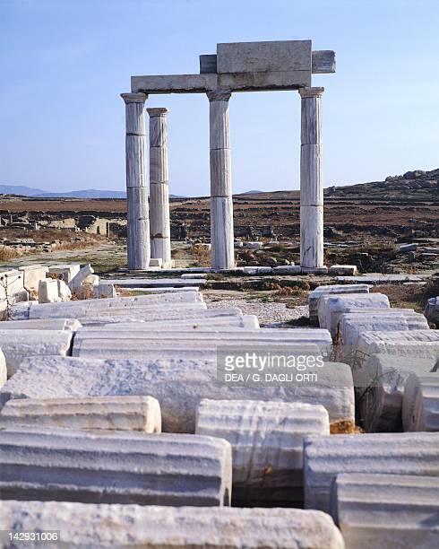 Posidoniasti site of Berito in Delos Cyclades Islands Greece Greek civilization 2nd Century BC
