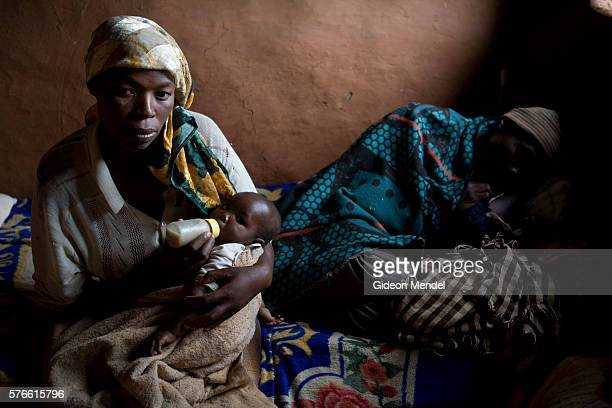 HIV positive Matiesetso Pahlabaki and her husband Mothakhi Pahlabaki who is severely ill with TB live in the remote village of Masaleng She found out...
