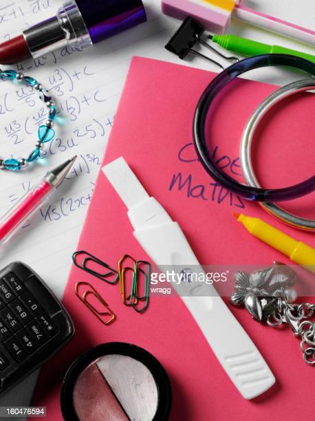 Positive Pregnancy Result on a School Desk