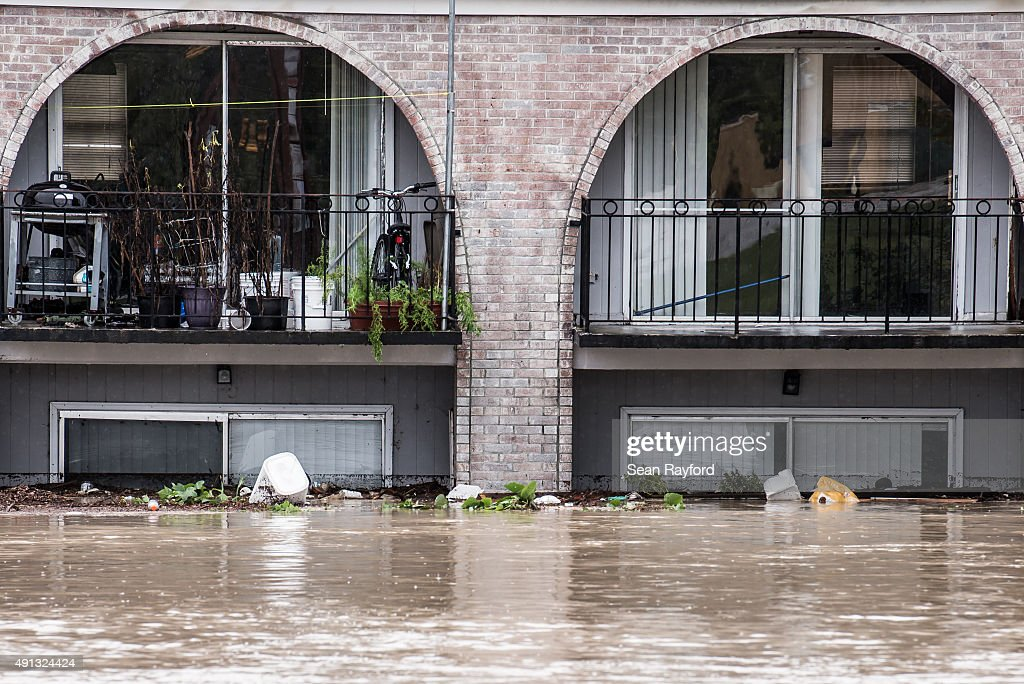 Possessions are stacked in second floor apartments during heavy flooding October 4 2015 in Columbia South Carolina South Carolina experienced a...