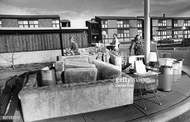 Possessions of evicted tenants can't be piled on government property so maintenance workers at Kensington Park carried McCaskill's furnishings 166...