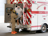 A possible Ebola patient is brought to the Texas Health Presbyterian Hospital on October 8 2014 in Dallas Texas Thomas Eric Duncan the first...