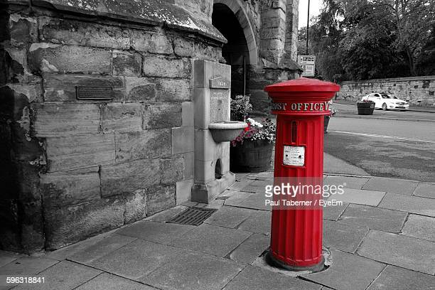 Post Box On Pavement