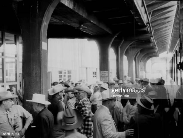 Post Cheyenne Frontier Days Train Passengers and guests wait on the platform of Union Station in preparation for boarding of The Denver Post Cheyenne...