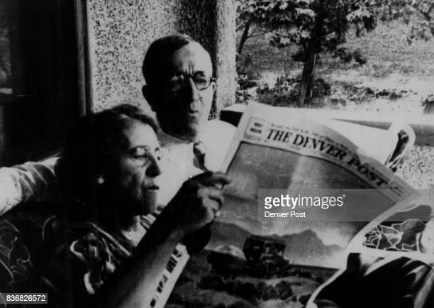 Post History The Denver Post's rotogravure section is scanned by Nellie B Plested and William Gordon Plested in the 1940s as they sit on their front...