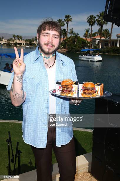Post Malone attends the KALEIDOSCOPE REFRESH presented by Cannabinoid Water on April 16 2017 in La Quinta California
