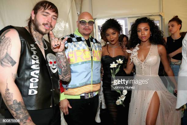 Post Malone Fat Joe Ajiona Alexus and Lil Mama at the InstaBooth at the 2017 BET Awards at Microsoft Square on June 25 2017 in Los Angeles California