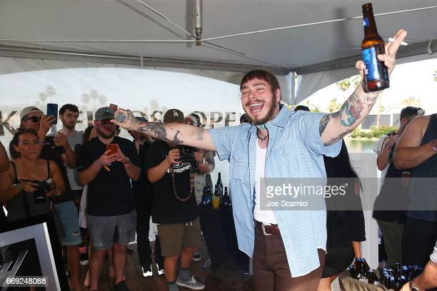 Post Malone performs at the KALEIDOSCOPE REFRESH presented by Cannabinoid Water on April 16 2017 in La Quinta California