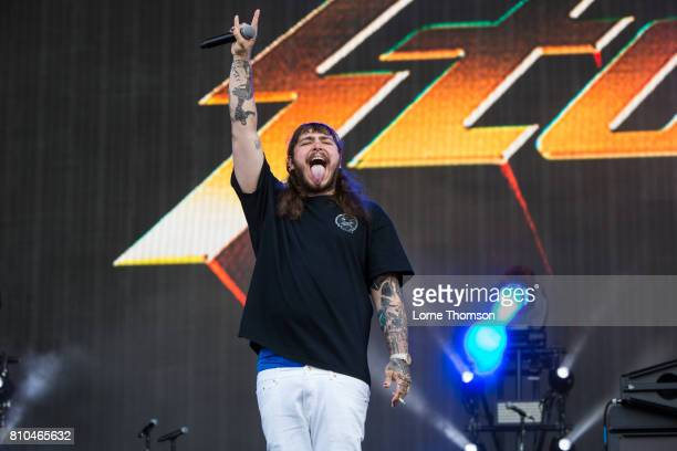 Post Malone performs at Wireless Festival Day 1 at Finsbury Park on July 7 2017 in London England
