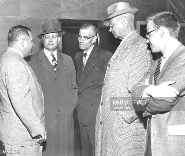 Post mortemTalking over the trial are Fred Ward Anthony Zarlengo Juror Frank Simpson Frederick E Dickerson and Don Sterling Denver Post staff writer...